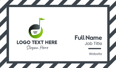 Golf Club Course Business Card