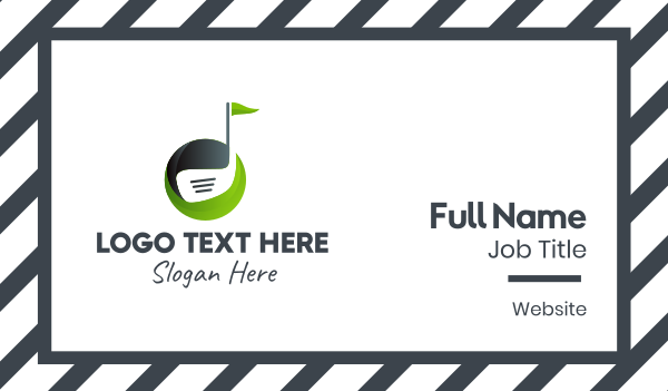 golf contest - Golf Club Course Business card horizontal design