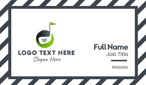 golf player - Golf Club Course Business card horizontal design