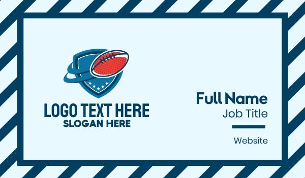 football equipment - Football Team Emblem  Business card horizontal design