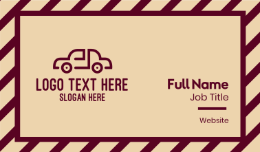 Generic Red Car  Business Card