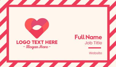 Love Heart  Business Card