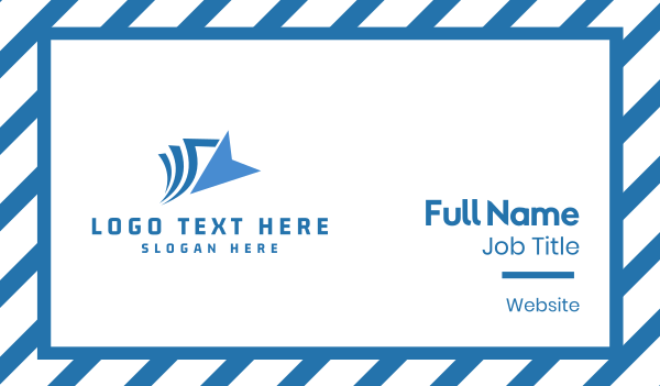 saas - Blue Click Business card horizontal design