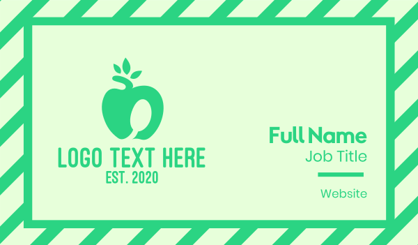 smoothie - Healthy Apple Business card horizontal design