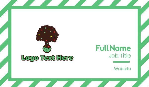 candy shop - Tree Lab Business card horizontal design