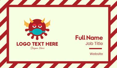 Red Sick Evil Virus Monster Business Card