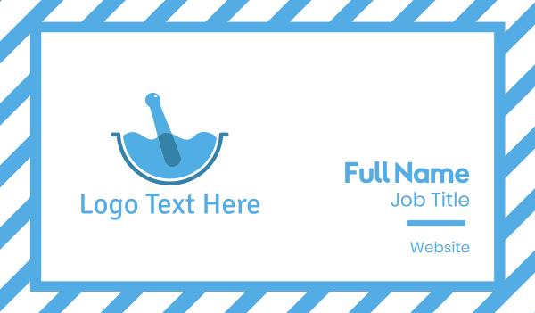 fluid - Blue Water Mortar Business card horizontal design