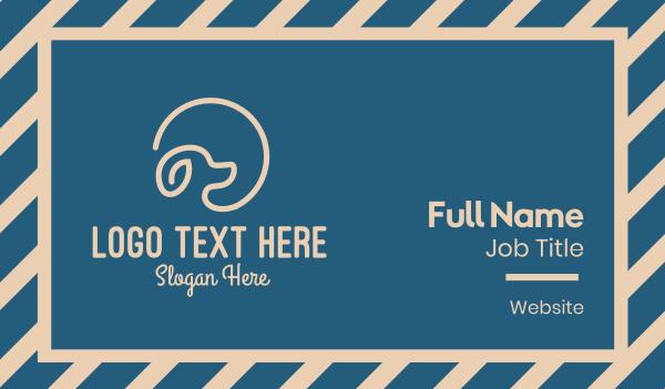 beige - Pet Dog Training  Business card horizontal design