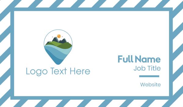 travel agent - Mountain Landscape Business card horizontal design