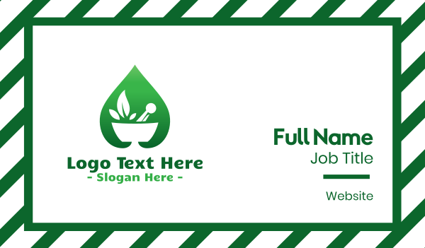 ingredients - Green Salad Leaf Business card horizontal design