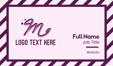 Star Letter M Business Card