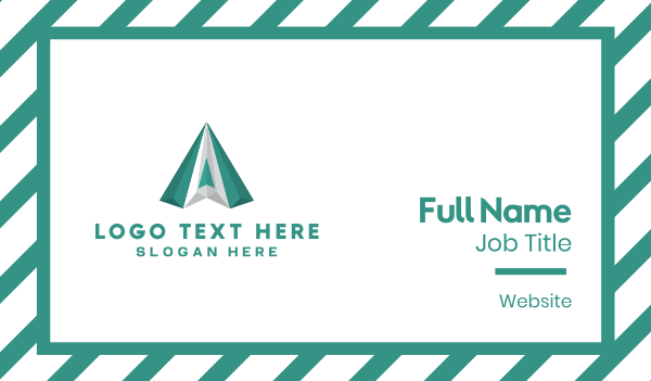 pyramid - Green Diamond Business card horizontal design