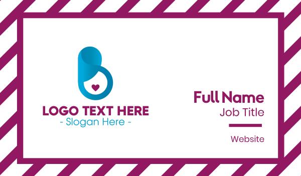 mom - Pregnancy Love Business card horizontal design