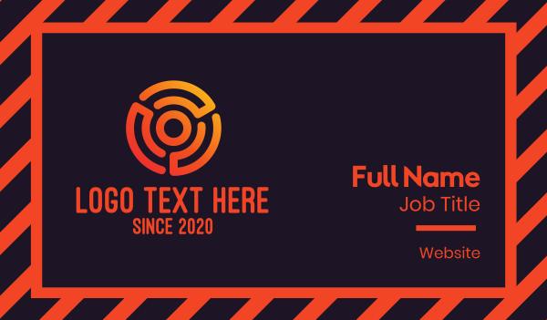 target - Digital Orange Target Business card horizontal design