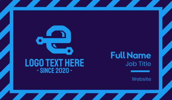 maintenance - Engineering Letter E Business card horizontal design