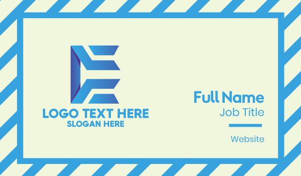 letter e - Tech Business Letter E  Business card horizontal design