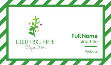 Garden Cross Plant Business Card
