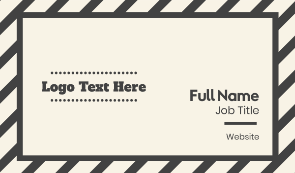 typewriter - Retro Grey Text Business card horizontal design