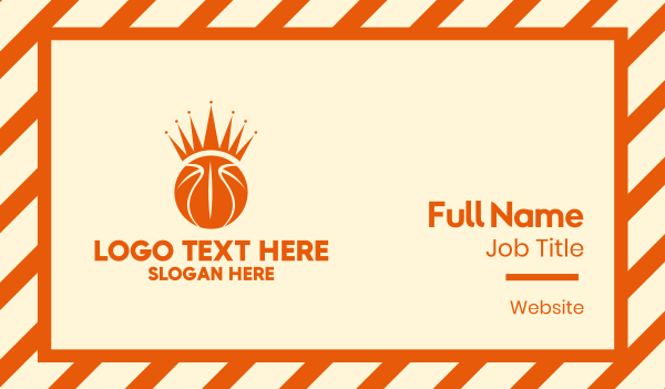 basketball equipment - Basketball Crown  Business card horizontal design