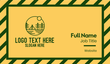 Sunset Green Camp Business Card