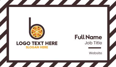 Pizza Pie B Business Card
