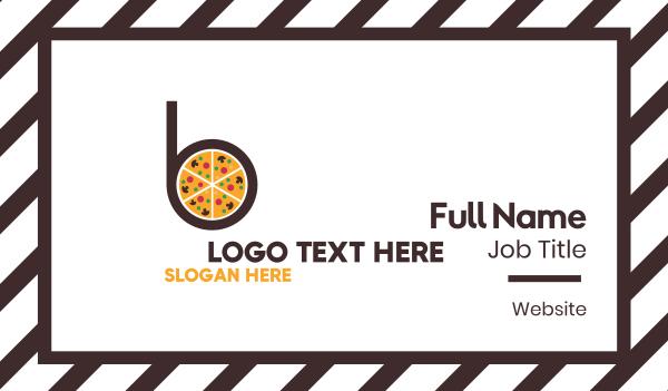 pie - Pizza Pie B Business card horizontal design