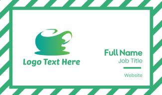 Abstract Green Tea Business Card