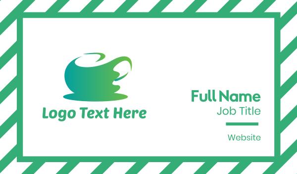 tea house - Abstract Green Tea Business card horizontal design