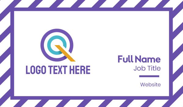 target - Letter Q Business card horizontal design
