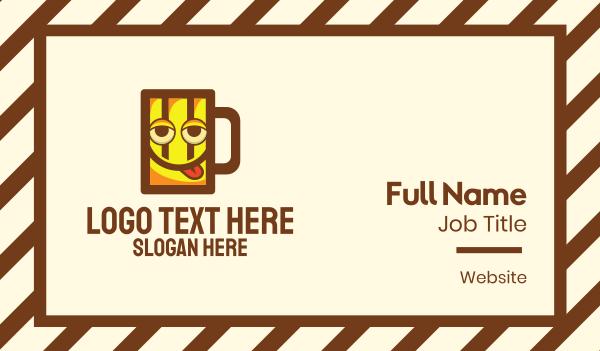 drunk - Beer Mug Mascot Business card horizontal design