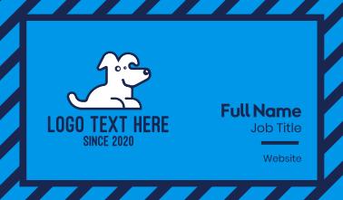 Cute Pet White Dog Business Card