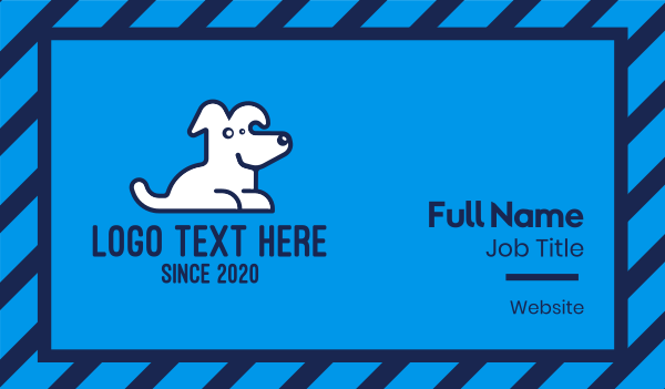 veterinary clinic - Cute Pet White Dog Business card horizontal design