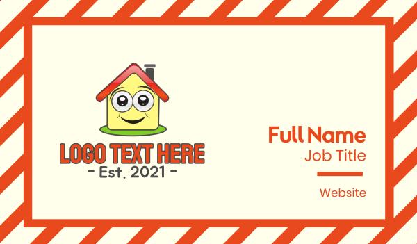 children center - Happy House Daycare Business card horizontal design