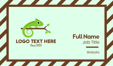 Green Chameleon Branch Business Card