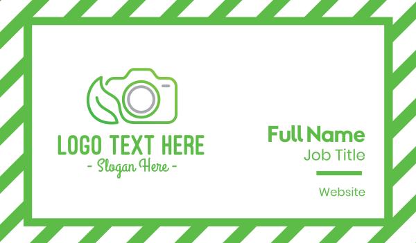 camera house - Nature Camera Outline Business card horizontal design