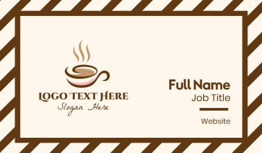 Lux Coffee Shop Business Card