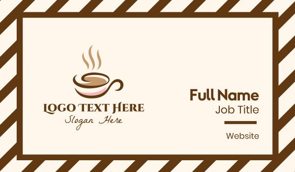 mocha - Lux Coffee Shop Business card horizontal design
