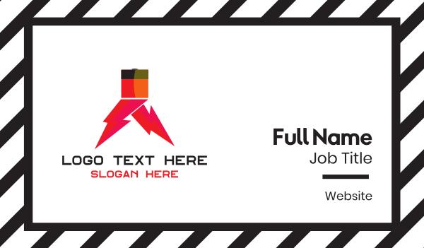 full - Electric Walk Business card horizontal design
