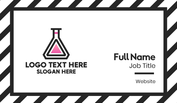 flask - Chemical Flask Business card horizontal design