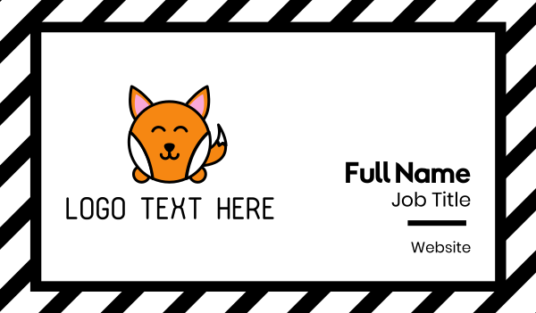 baby - Cute Corgi Dog Business card horizontal design