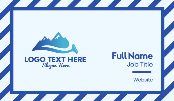 housekeeping - Mountain Cleaner  Business card horizontal design