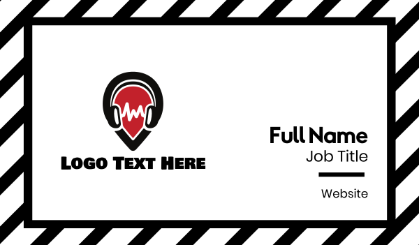 vibe - Sound Spot  Business card horizontal design