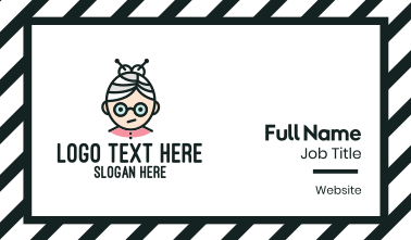 Cute Granny Mascot Business Card