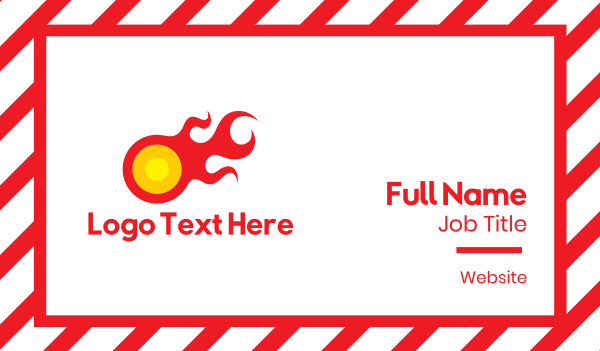 flame - Red Comet Business card horizontal design