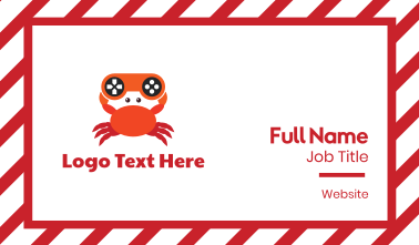 Gaming Controller Crab Business Card