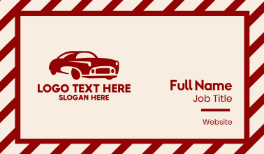 Classic Red Car Business Card