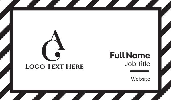 ac - A & C Business card horizontal design