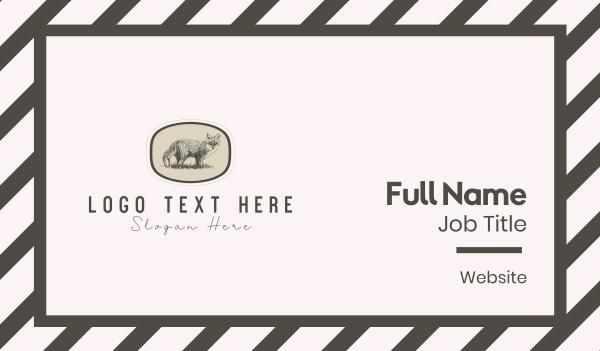 lithograph - Fox Art Business card horizontal design