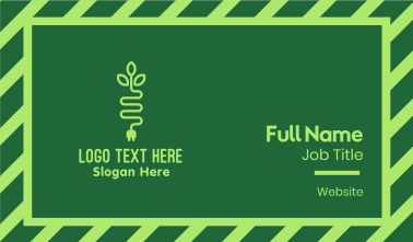 Green Eco Plug Business Card
