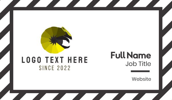 Yellow Armadillo Business Card